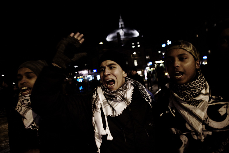Clashes over Gaza in Oslo, Norway